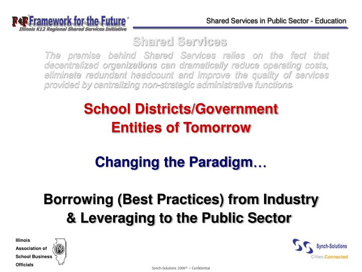 Shared Services in Public Sector - Education