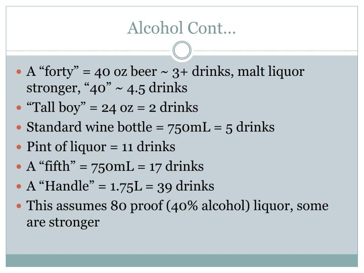 Alcohol Cont…