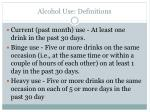 alcohol use definitions