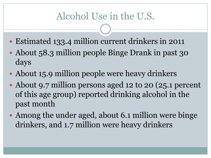 Alcohol use in the u s