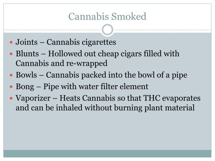Cannabis Smoked
