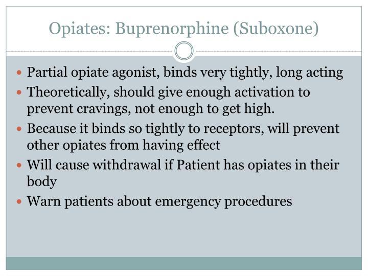 Opiates: Buprenorphine (