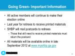 going green important information