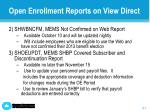 open enrollment reports on view direct1