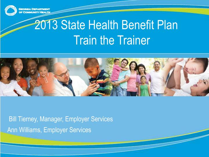 2013 State Health Benefit Plan