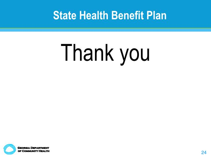 State Health Benefit Plan