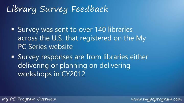 Library Survey Feedback