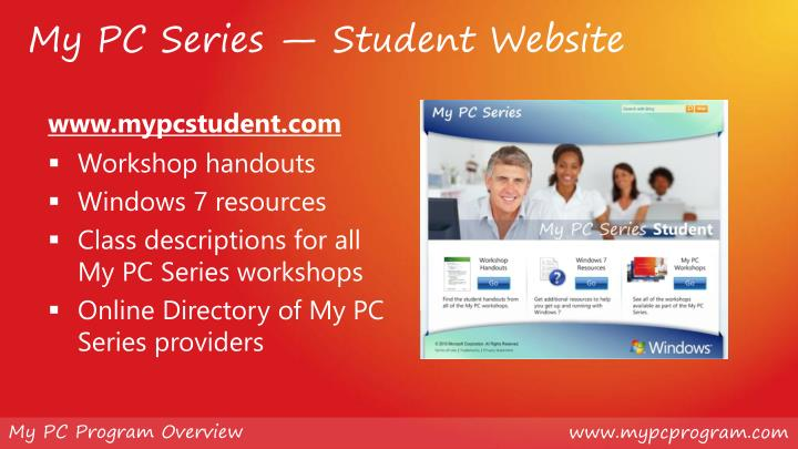 My PC Series — Student Website
