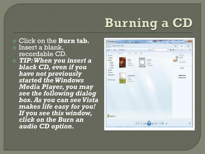 Burning a CD