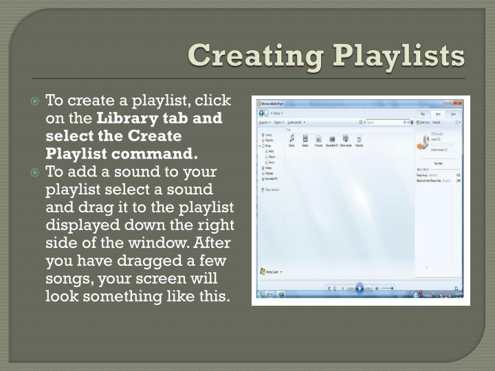 Creating Playlists