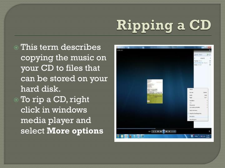 Ripping a CD