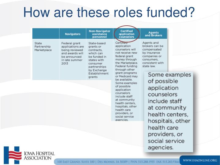 How are these roles funded?