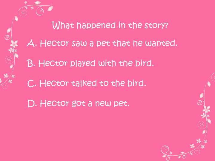 What happened in the story?