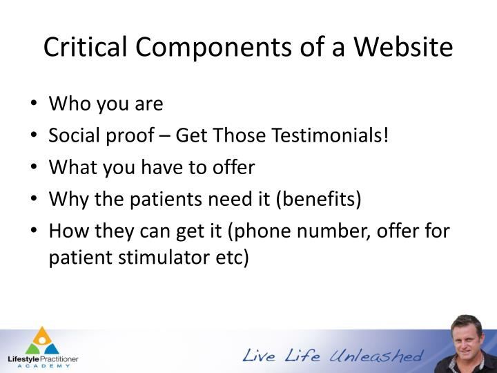 Critical Components of a Website