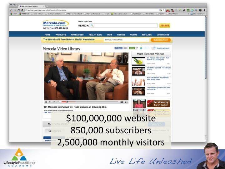 $100,000,000 website