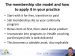 the membership site model and how to apply it in your practice1