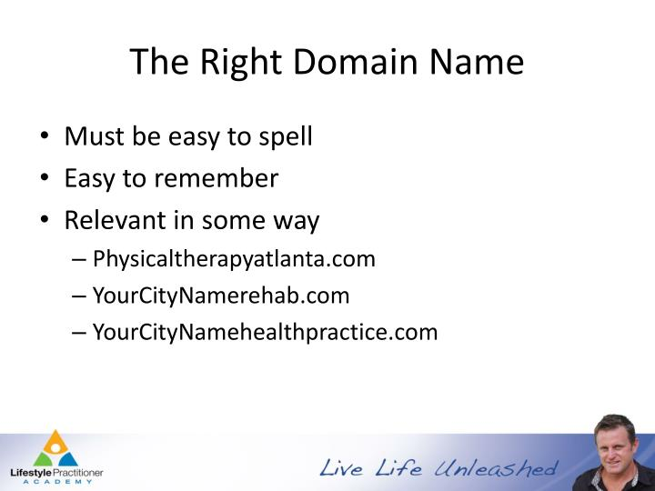 The Right Domain Name