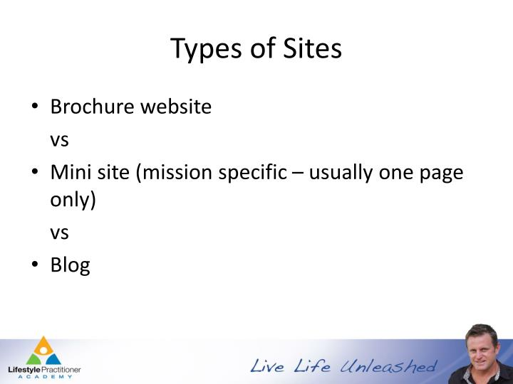 Types of Sites