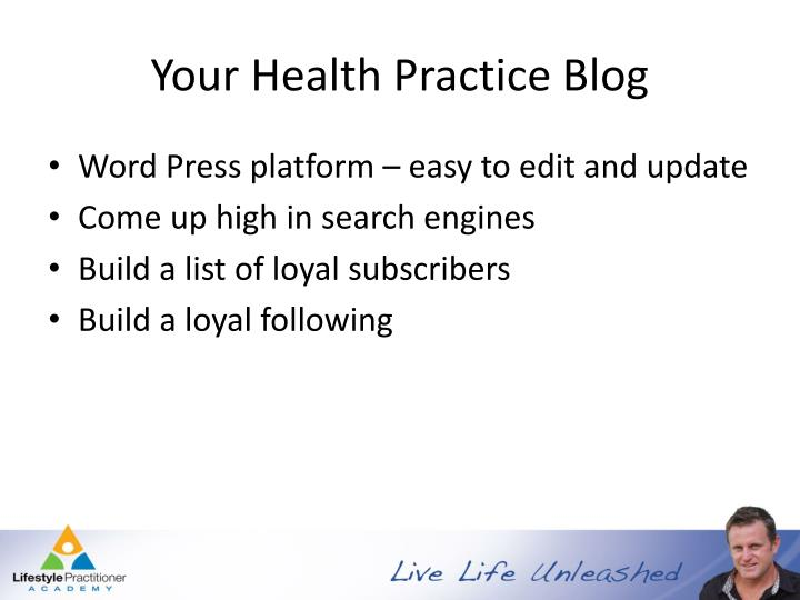 Your Health Practice Blog