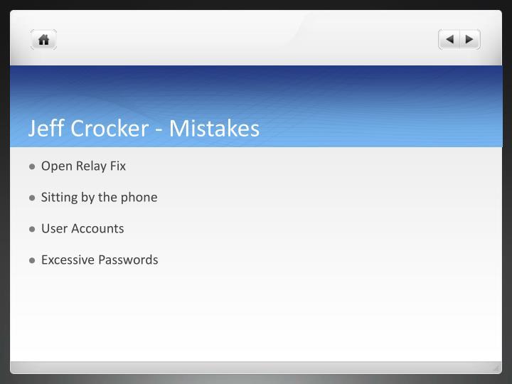 Jeff Crocker - Mistakes