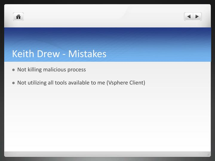 Keith Drew - Mistakes