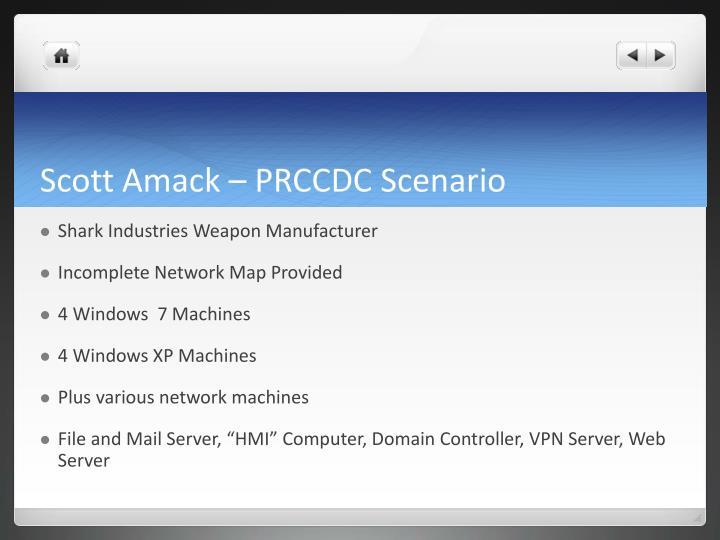 Scott Amack – PRCCDC Scenario