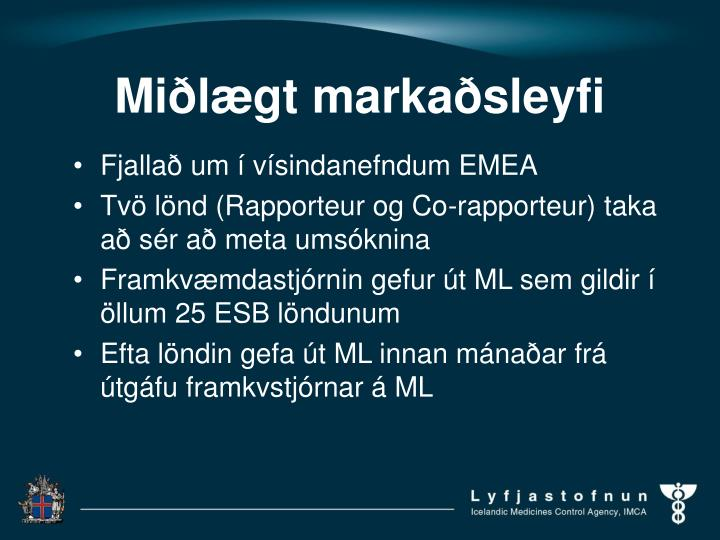 Miðlægt markaðsleyfi
