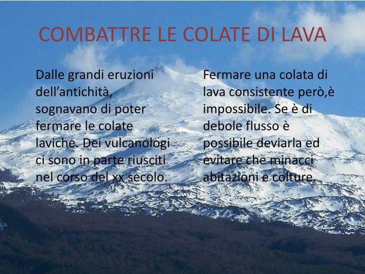 COMBATTRE LE COLATE