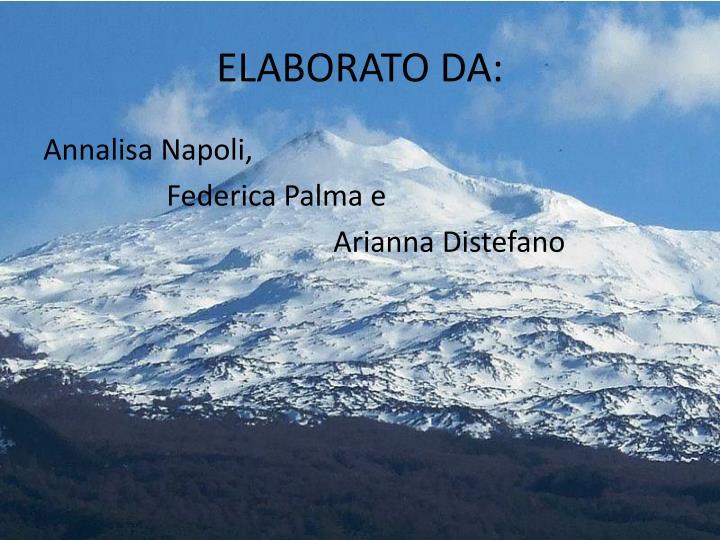 ELABORATO DA:
