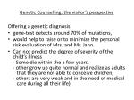 genetic counselling the visitor s perspective