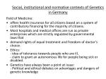 social institutional and normative contexts of genetics in germany