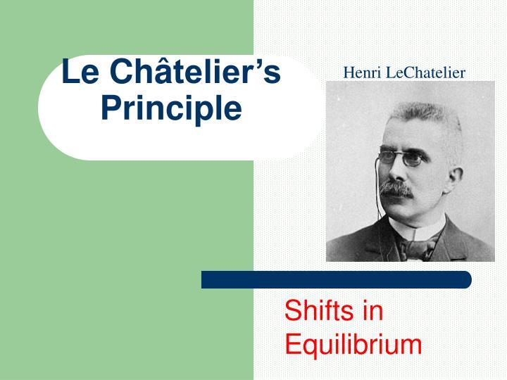 Henri LeChatelier