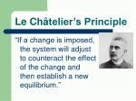 le ch telier s principle1
