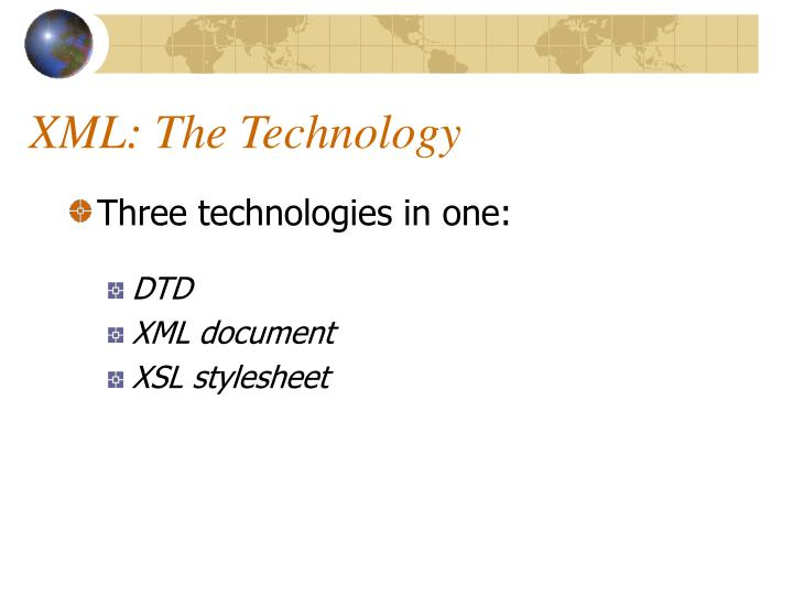 XML: The Technology