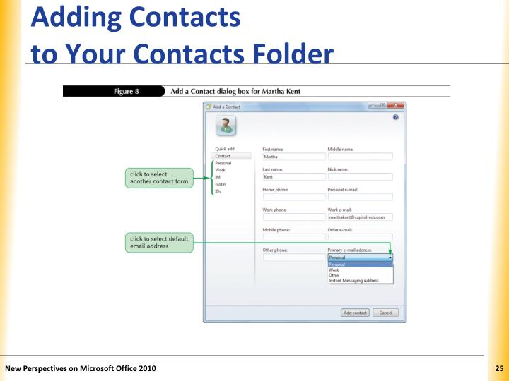 Adding Contacts