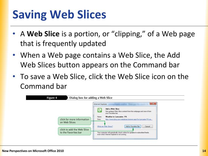 Saving Web Slices