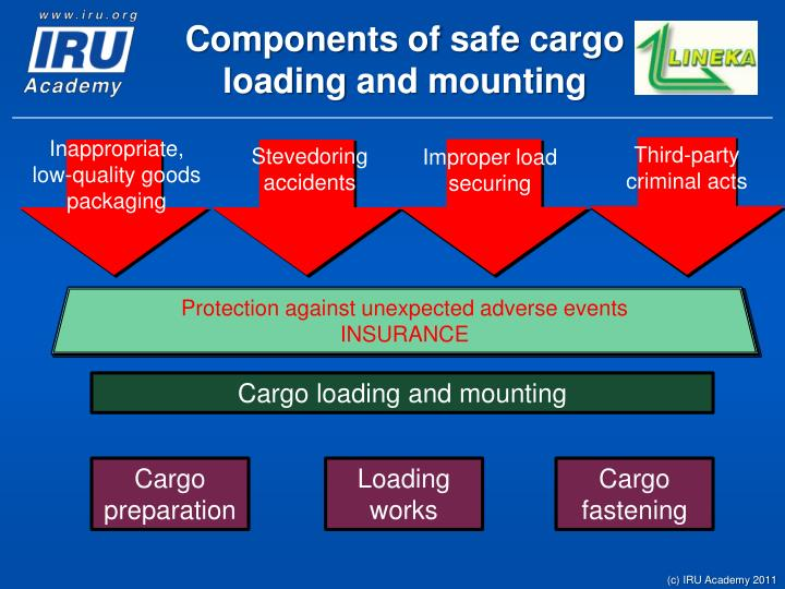 C omponents of s afe cargo load ing and mounting1