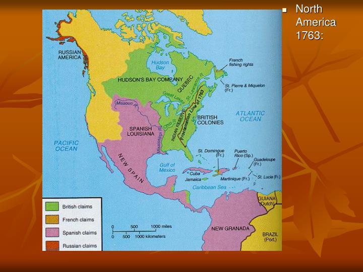 North America 1763: