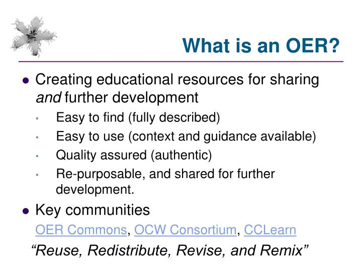 What is an OER?