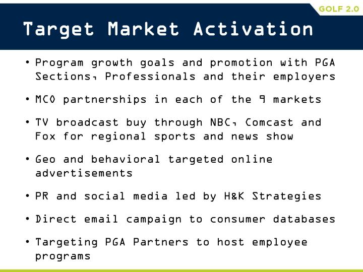 Target Market Activation