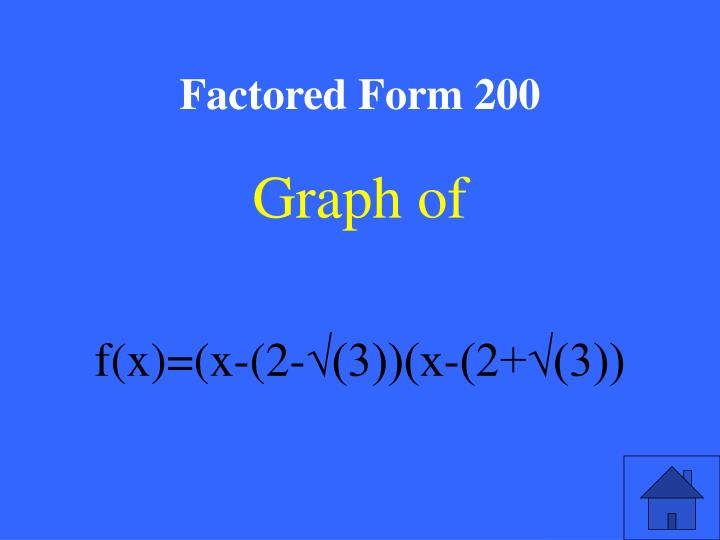 Factored Form 200