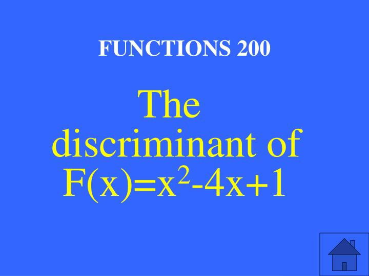 FUNCTIONS 200