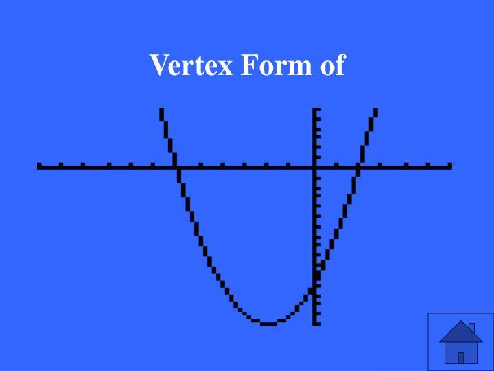 Vertex Form of