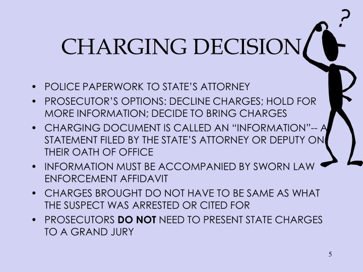 CHARGING DECISION