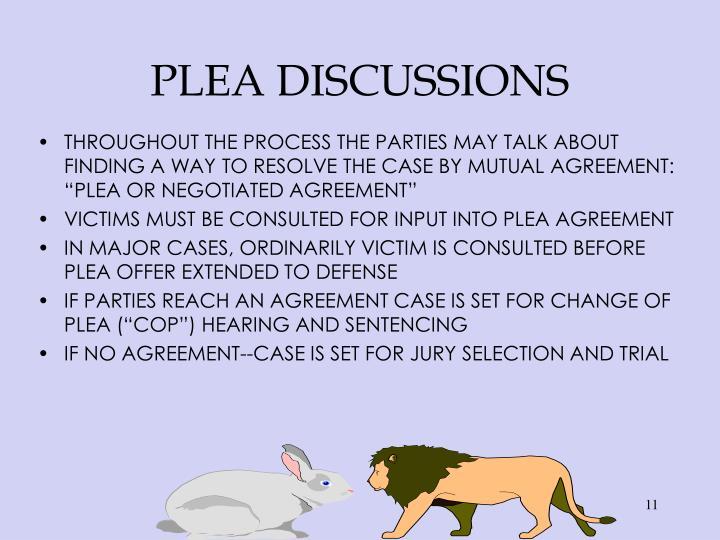 PLEA DISCUSSIONS