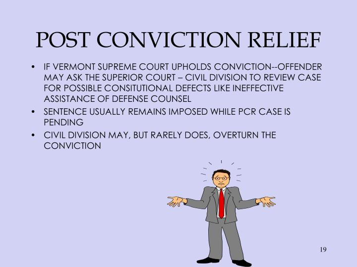 POST CONVICTION RELIEF