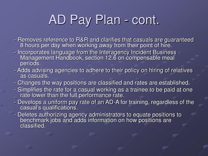 AD Pay Plan - cont.