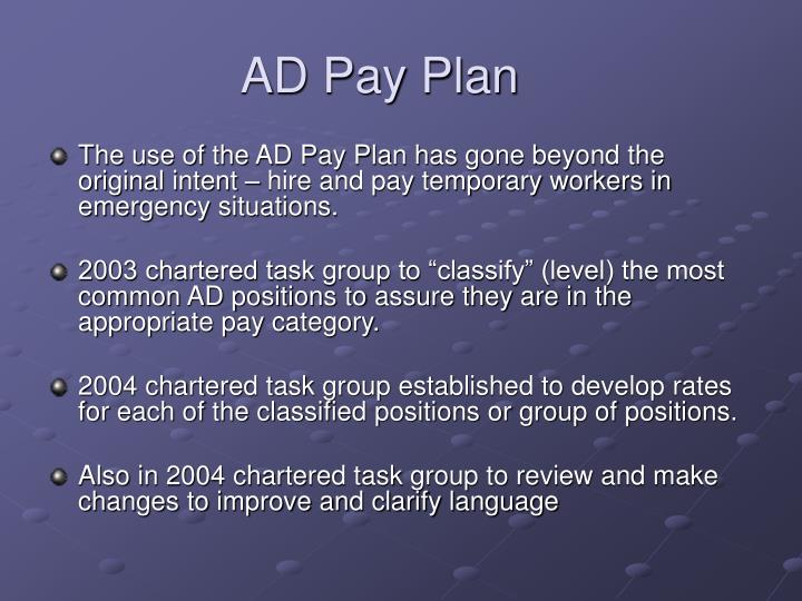 Ad pay plan