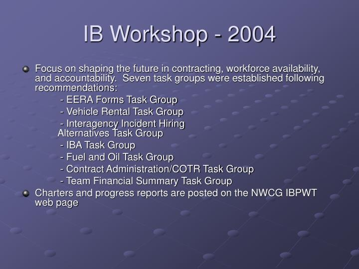 Ib workshop 2004