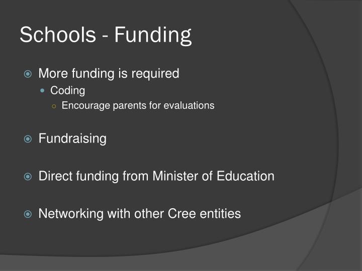 Schools - Funding